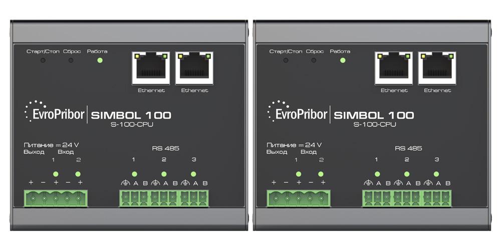 Программируемый контроллер Simbol-100. Модуль центрального процессора S-100-CPU. Ключевые особенности. Дуплекс-версия.