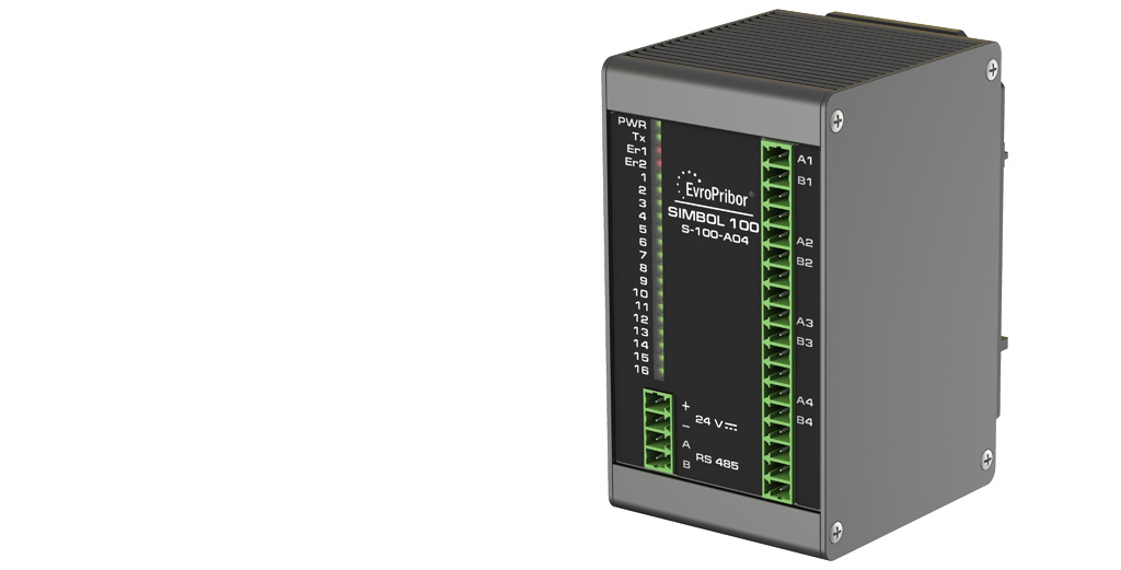 Контроллер Simbol-100. Модуль аналогового вывода S-100-AO4