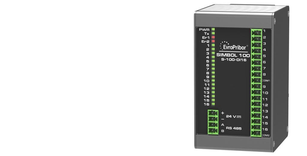 Контроллер Simbol-100. Модуль дискретного ввода S-100-DI16