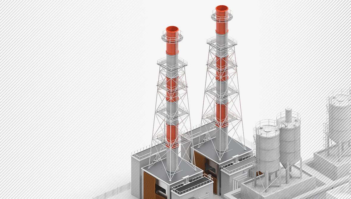 Программно-технический комплекс управления установкой утилизации теплоты дымовых газов.
